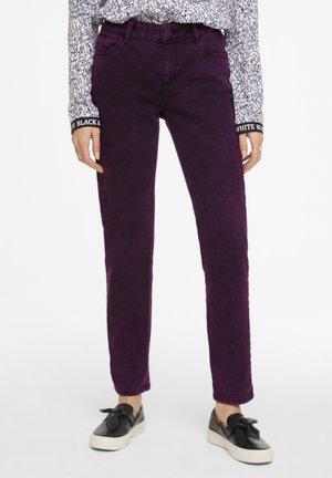 Straight leg jeans - dark lilac