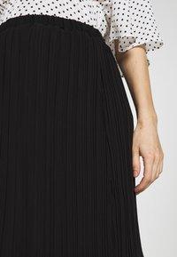 New Look Maternity - MINI PLEAT MIDI SKIRT - A-line skirt - black - 4