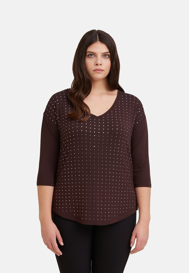 CON APPLICAZIONI - Long sleeved top - brown