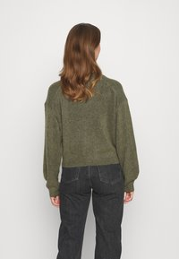 Weekday - AGGIE TURTLENECK - Jumper - olive green melange - 2
