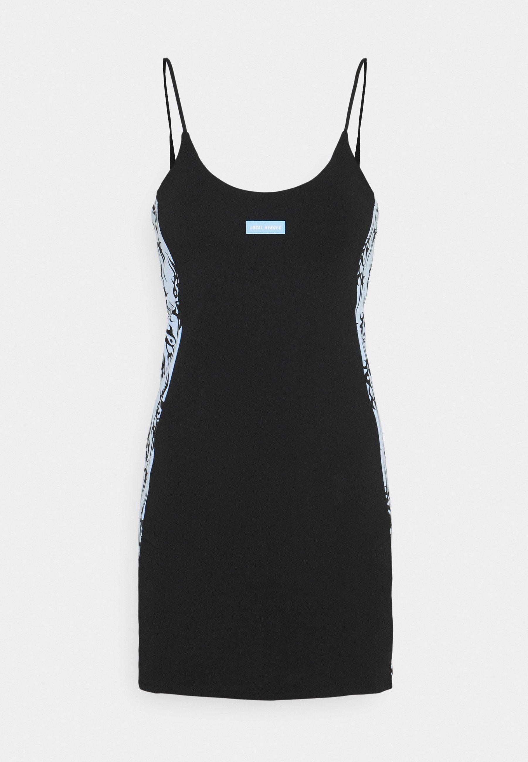 Women TRIBAL LOVE BLACK SLIP ON DRESS - Day dress