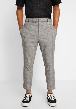 SLIM TROUSER MICRO CHECK - Tygbyxor - grey