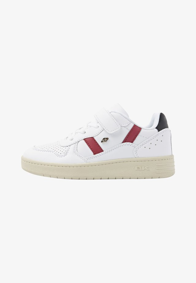 Sneakers laag - white/burgundy/black