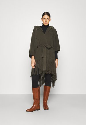 FRNG PONCHO - Cape - loden heather