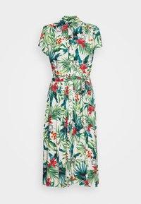 Dorothy Perkins - TROPICAL SHIRT DRESS - Shirt dress - white - 0