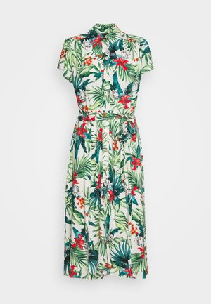 TROPICAL SHIRT DRESS - Shirt dress - white