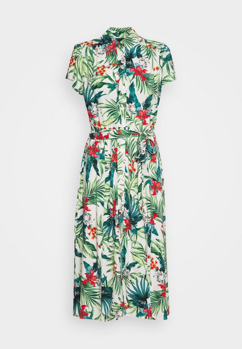 Dorothy Perkins - TROPICAL SHIRT DRESS - Shirt dress - white