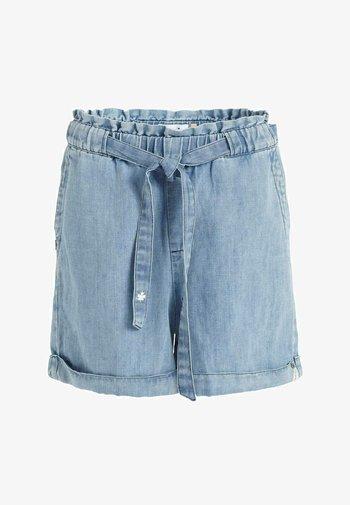 CANDICE - Denim shorts - blau