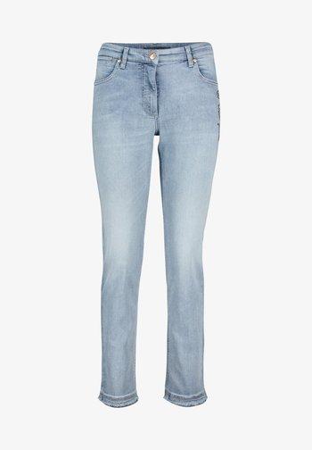 Slim fit jeans - blue bleached denim