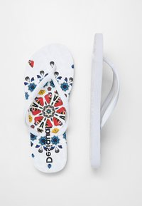 Desigual - BUTTERFLY - T-bar sandals - white - 2