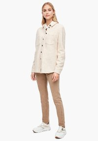 s.Oliver - Button-down blouse - light sand melange - 1