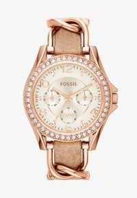 Fossil - RILEY - Orologio - rosegold-coloured/light brown - 2