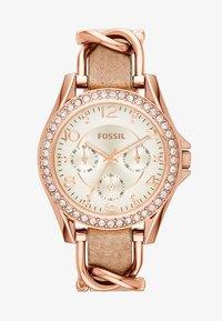 Fossil - RILEY - Horloge - rosegold-coloured/light brown - 2