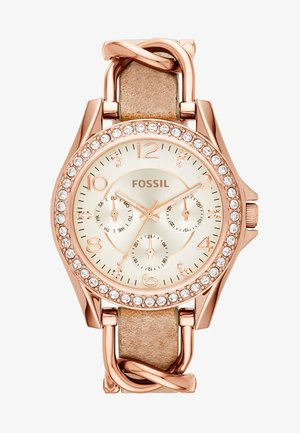 RILEY - Uhr - rosegold-coloured/light brown