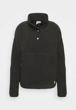 CRAGMONT SNAP SCARABGR - Fleece jumper - black