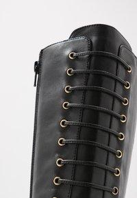 KIOMI - Botas con cordones - black - 2
