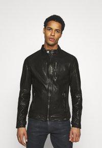 Tigha - HUTCH - Leather jacket - black - 0