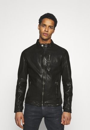 HUTCH - Leather jacket - black