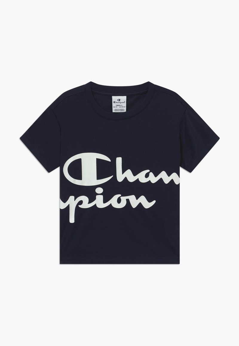 Champion - CHAMPION X ZALANDO PERFORMANCE BOXY TEE - Camiseta estampada - dark blue