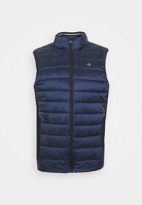 LIGHT WEIGHT SIDE LOGO VEST - Waistcoat - blue