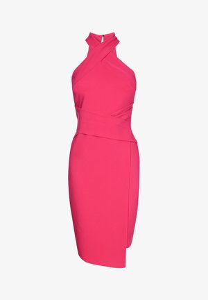 TWIST NECK - Robe fourreau - pink