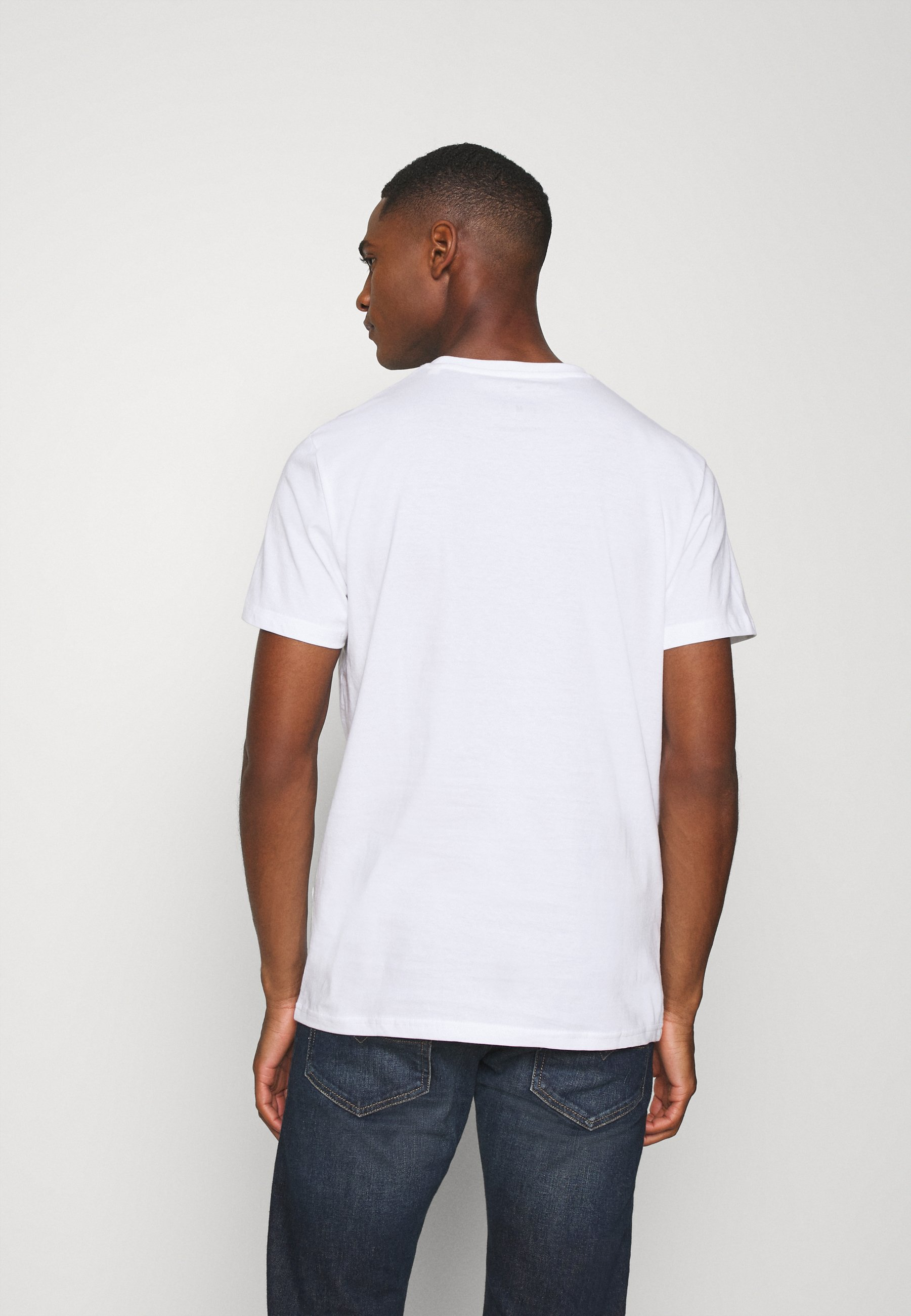 TOM TAILOR WITH PRINT - Print T-shirt - white OL5Ax