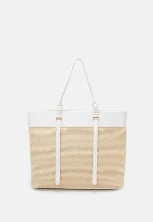 FREYA PANELLED TOTE BAG - Tote bag - white/straw