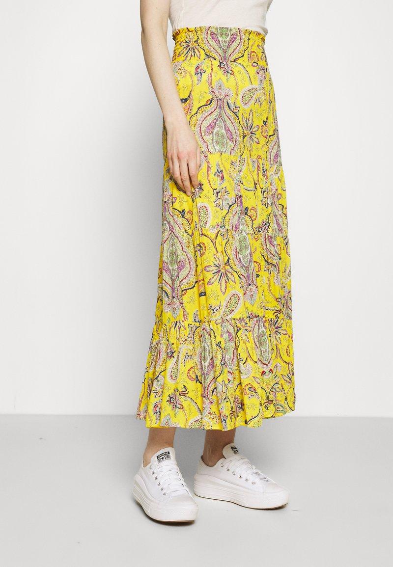 Desigual - FLORENCIA - Maxi skirt - yellow