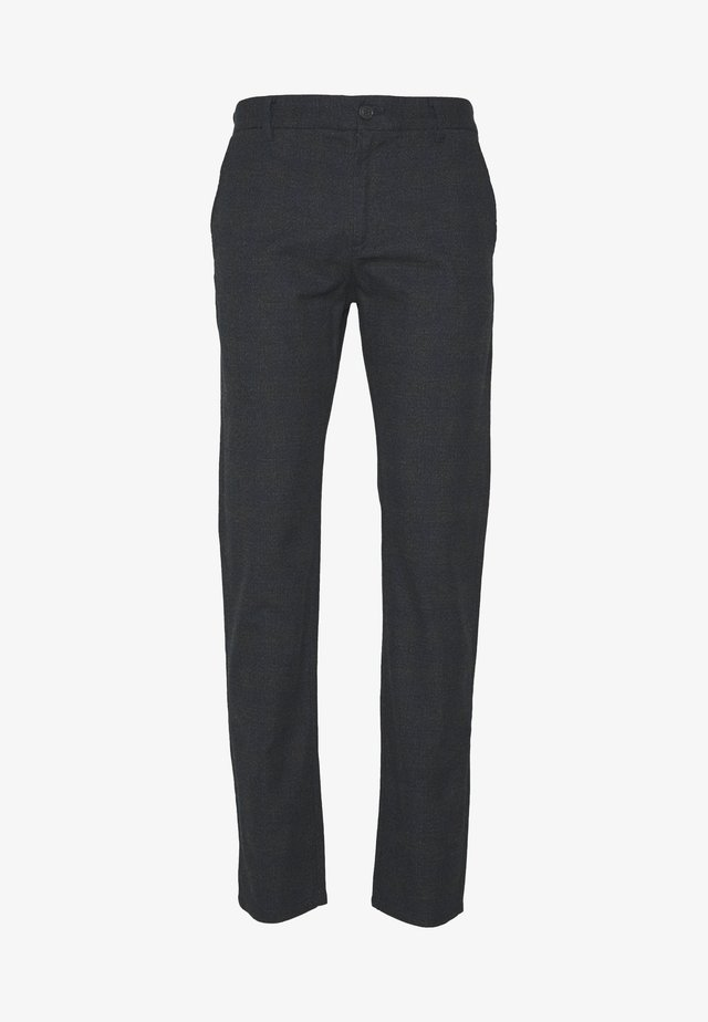 SLHSLIM ARVAL PANTS - Tygbyxor - gray