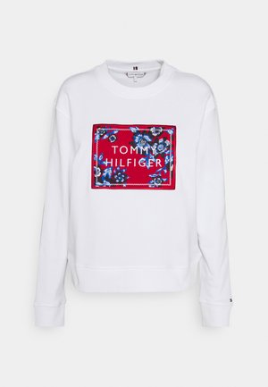 RELAXED FLORAL - Sweatshirt - white