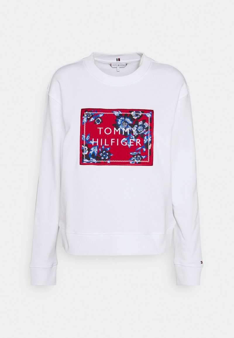 Tommy Hilfiger - RELAXED FLORAL - Sweatshirt - white
