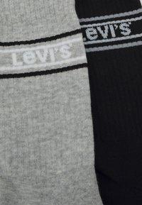 Levi's® - LOGO REGULAR CUT 2PACK - Calze - mid grey melange/black - 1