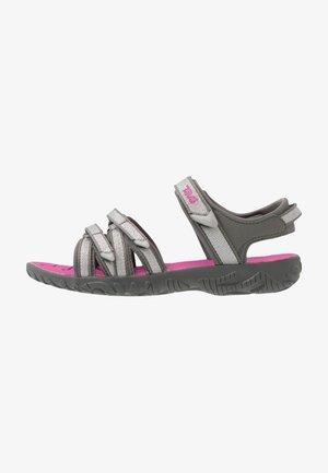Walking sandals - silver/magenta