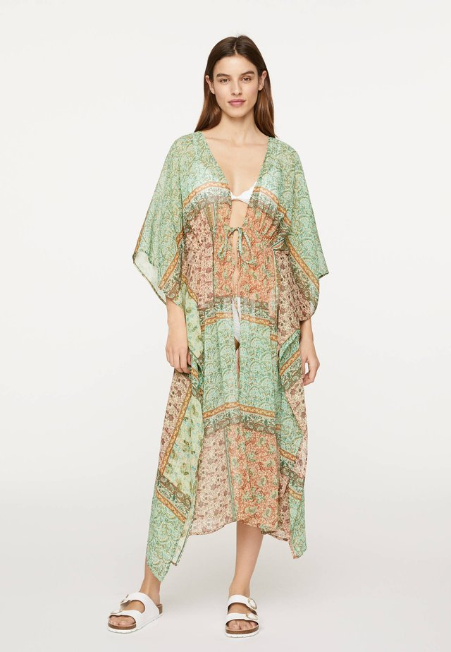 TUNIKA MIT PAISLEY-PRINT 30130117 - Beach accessory - turquoise