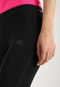 adidas Performance - 3/4 sports trousers - black/black - 6