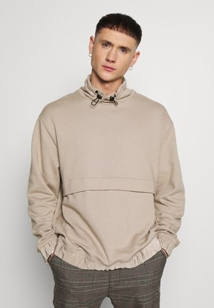 STUCCO MIX FUNNEL - Sweatshirt - stone/beige