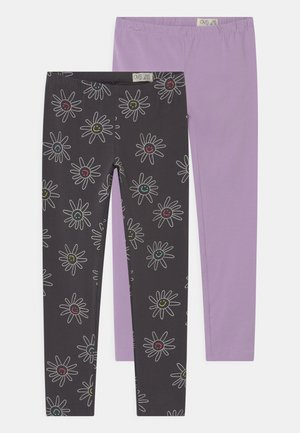 2 PACK - Leggings - Trousers - asphalt
