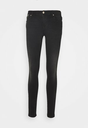 ONLISA4 LIFE REG ZIP - Jeans Skinny Fit - black denim