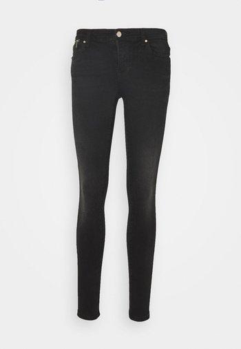 ONLISA4 LIFE REG ZIP - Jeans Skinny Fit - black denim