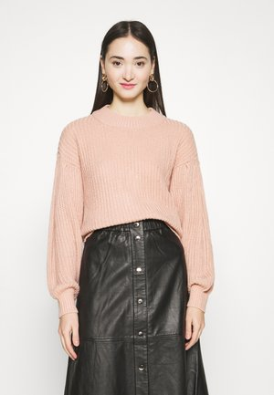 VMFURN LS BALLOON O-NECK  - Jumper - misty rose