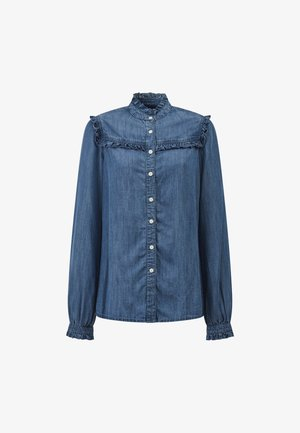 Jordan Lyocell Ruffle - Skjorte - medium blue