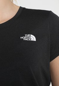 The North Face - WOMENS REAXION CREW - Basic T-shirt - black heather - 5