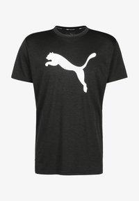 Puma - HEATHER CAT  - Print T-shirt - black heather - 0