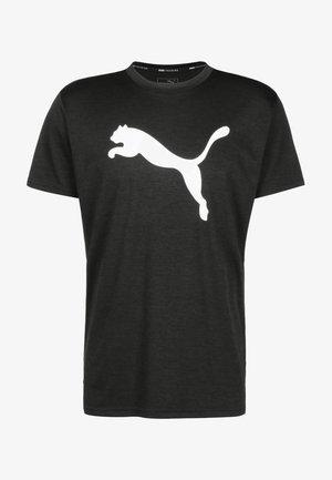 HEATHER CAT  - Print T-shirt - black heather