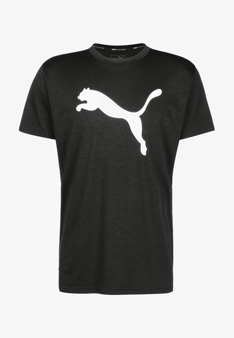 Puma - HEATHER CAT  - Print T-shirt - black heather