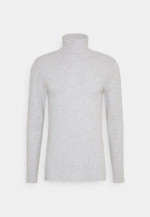Langærmede T-shirts - mottled grey