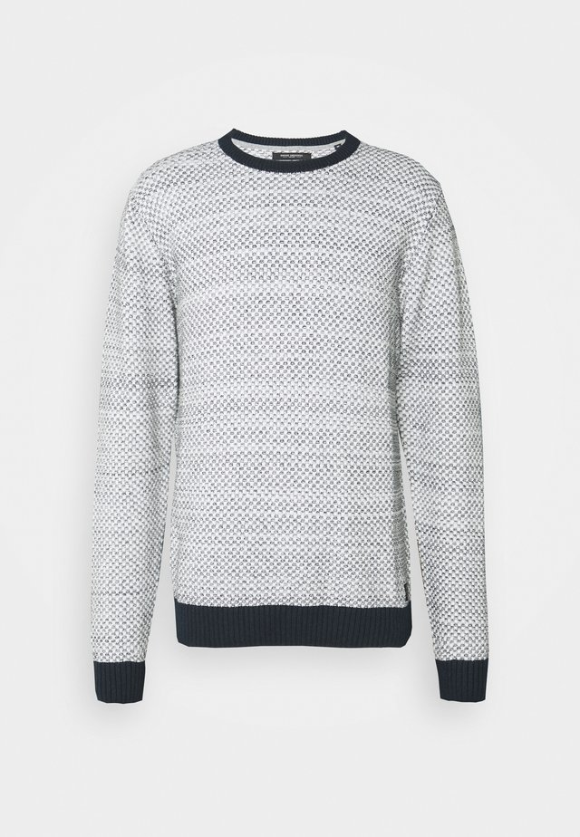 CREW NECK STUCTURE  - Jumper - off white