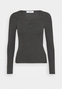 ONLMARY - Long sleeved top - dark grey melange