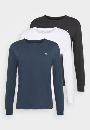 ICON 3 PACK - Camiseta de manga larga - black/navy/white