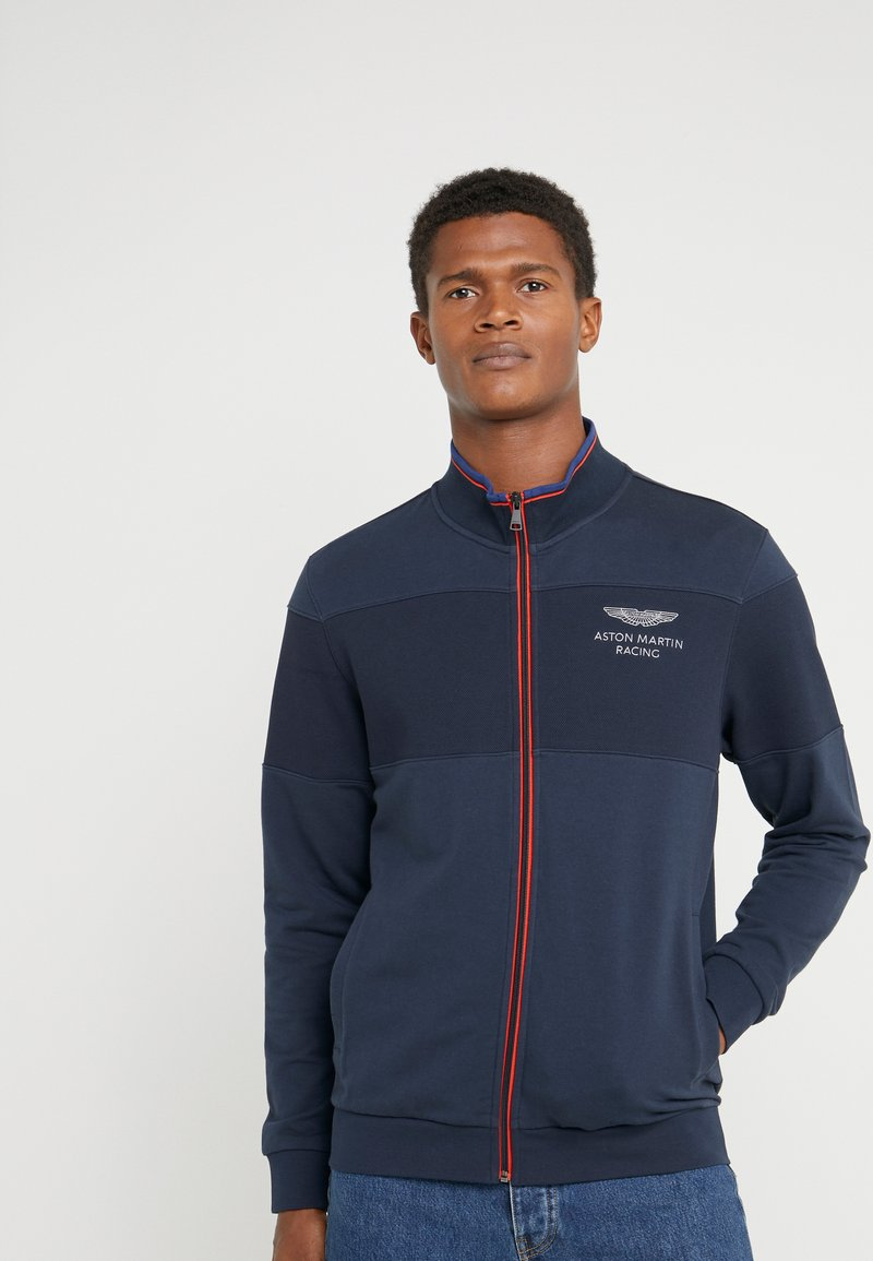 Hackett Aston Martin Racing - TRACK TOP - Felpa aperta - navy